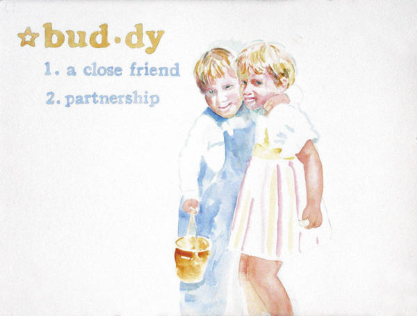 Boys Art Print featuring the painting Buddy by Janice Crow