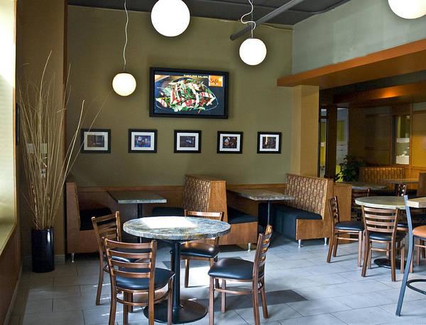 Restaurant Interior Art Print featuring the photograph Cafe E Interior by Michael Rutland