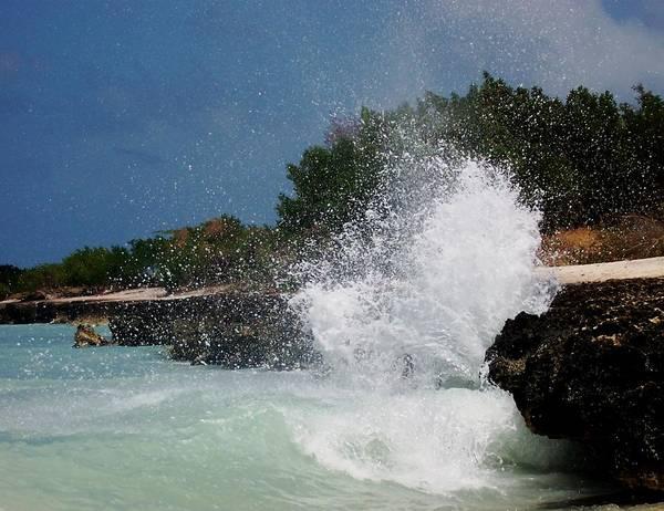 Ocean Art Print featuring the photograph Caribe Splash by James Harper
