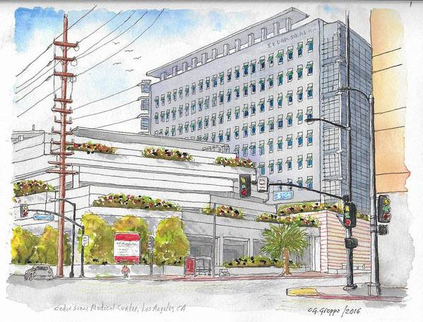Cedars-sinai Medical Center, 3rd And San Vicente, West Hollywood, Ca Art  Print