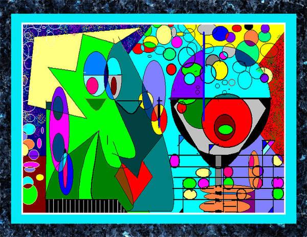 Music Art Print featuring the digital art Cheers by George Pasini
