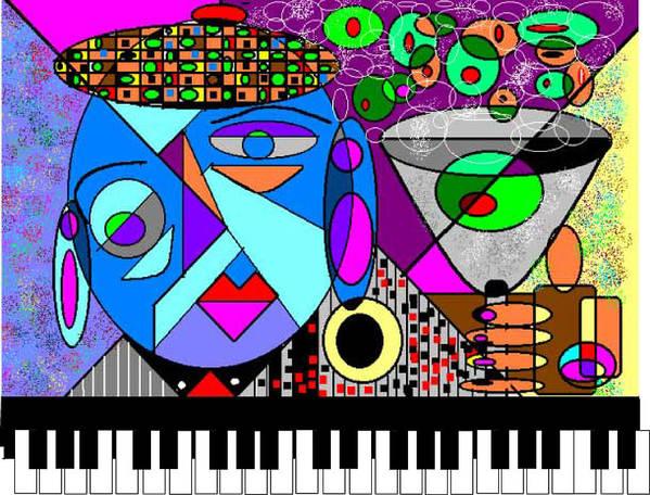 Music Art Print featuring the digital art Cheers2 by George Pasini