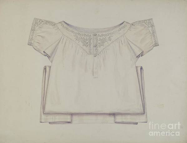 Art Print featuring the drawing Chemise by Eugene Croe