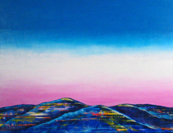 Sky Art Print featuring the painting Clear Day by Rollin Kocsis