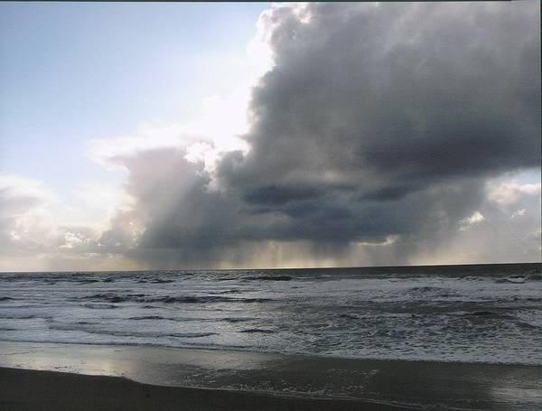 Landscape/ocean Art Print featuring the photograph Clouds Message by Yolanda Lange