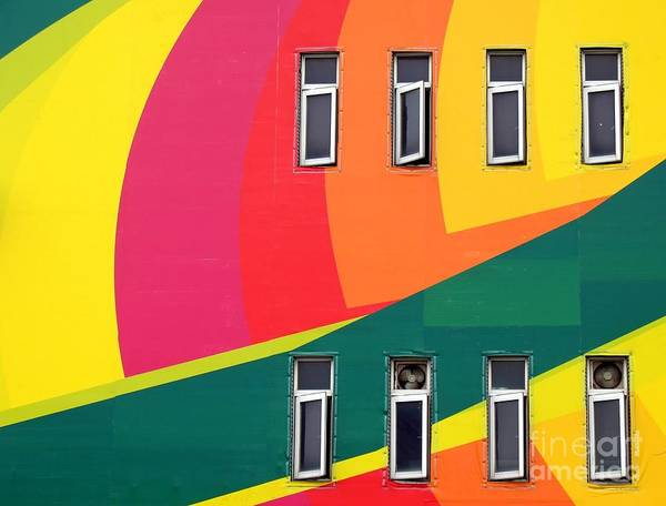 Colorful Art Print featuring the photograph Colorful Wall by Yali Shi