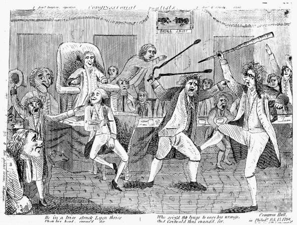 1798 Print featuring the photograph Congressional Pugilists by Granger