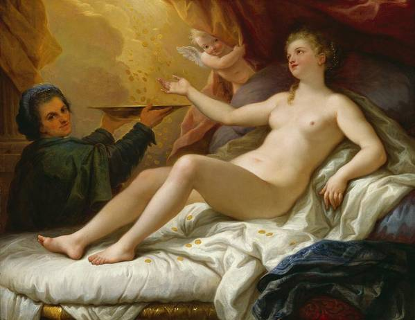 Danae Art Print featuring the painting Danae by Paolo di Matteis