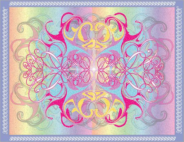 Color Art Print featuring the digital art Decorative 11 by George Pasini
