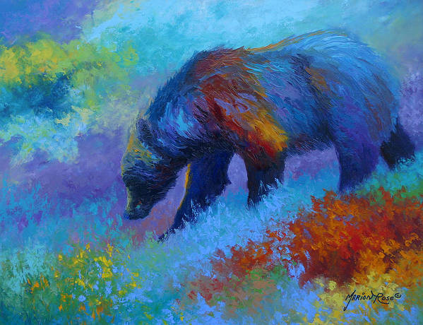 Western Art Print featuring the painting Denali Grizzly Bear by Marion Rose
