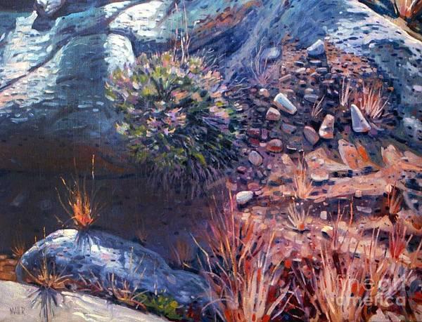 Desert Art Print featuring the painting Desert Floor by Donald Maier