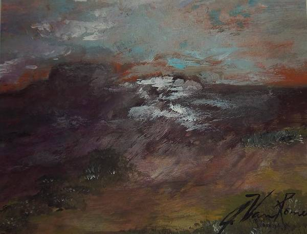 Art Print featuring the painting Desert Horizon by Jim Van Romer