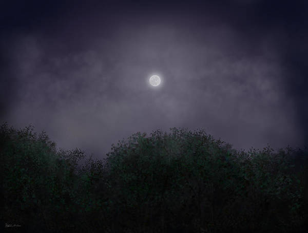 Night Art Print featuring the painting Distant World by Steven Powers SMP