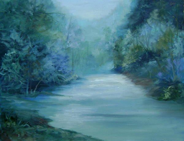 Burton River Georgia Art Print featuring the painting Dreamsome by Ginger Concepcion