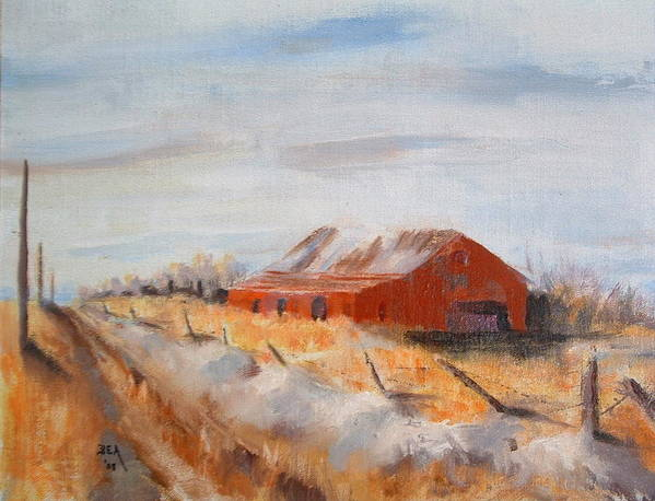 Landscape Art Print featuring the painting Entering Choteau County by Bryan Alexander