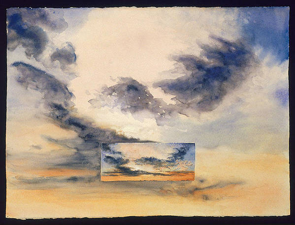 Sunset Art Print featuring the painting Evanston Sunset by Nancy Ethiel