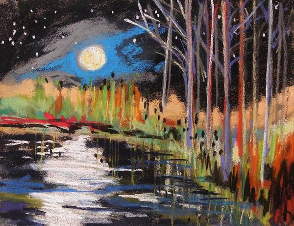 Evening Art Print featuring the painting Evening Near The Pond by John Williams