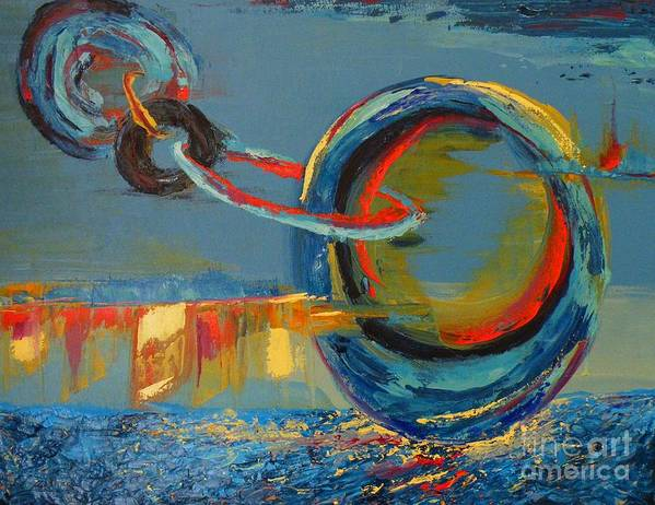 Abstract Painting Art Print featuring the painting Evolving Sense by Patricia Awapara