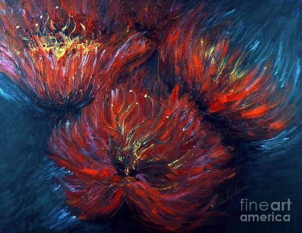 Abstract Art Print featuring the painting Fellowship by Nadine Rippelmeyer
