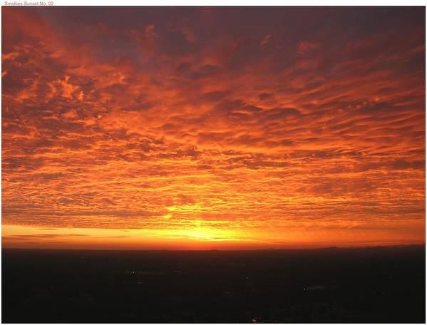 Sunset Art Print featuring the photograph Fire Storm by John Geck