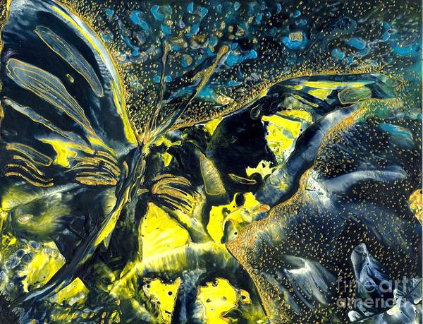 Butterfly Art Print featuring the painting Freedom For Margot by Heather Hennick