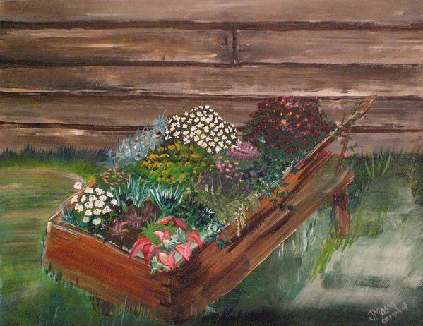 Garden Art Print featuring the painting Garden Box by Jessica Mason