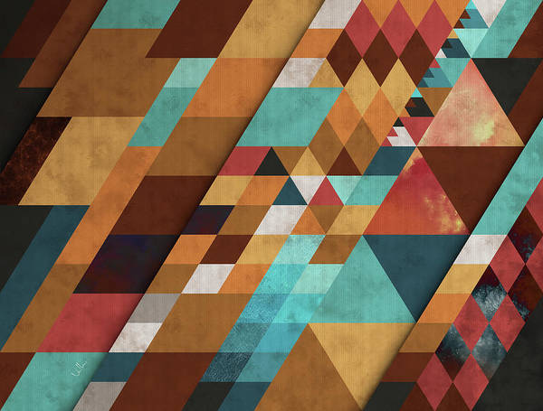 Hipster Art Print featuring the digital art Geometric Positivity by Francisco Valle