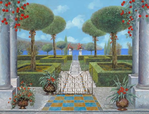 Italian Garden Art Print featuring the painting Giardino Italiano by Guido Borelli
