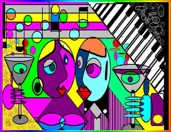 Music Art Print featuring the digital art Good Friends by George Pasini