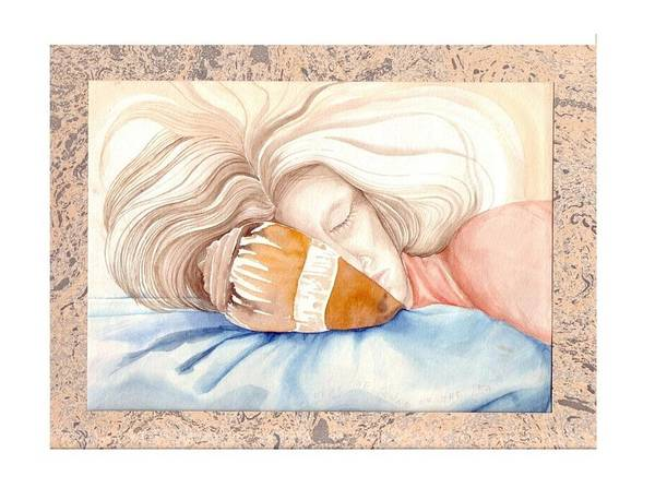 Shell Art Print featuring the painting Hear The Sound Of The Sea by Amrei Al-Tobaishi-Jarosch