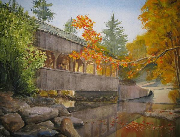 High Falls Art Print featuring the painting High Falls Bridge by Shirley Braithwaite Hunt