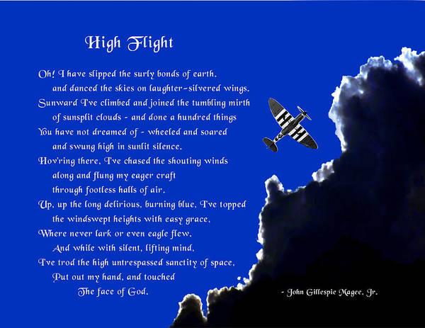 High Flight Art Print featuring the photograph High Flight by Mike Flynn
