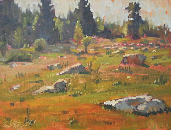 Berkshire Hills Paintings Art Print featuring the painting Hillside Patterns by Len Stomski