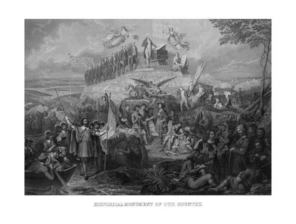 Us Presidents Art Print featuring the drawing Historical Monument Of Our Country by War Is Hell Store