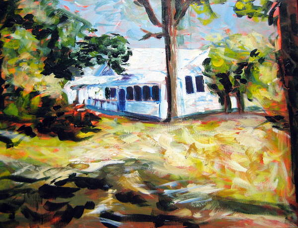 House Art Print featuring the painting House Two by Rebecca Merola