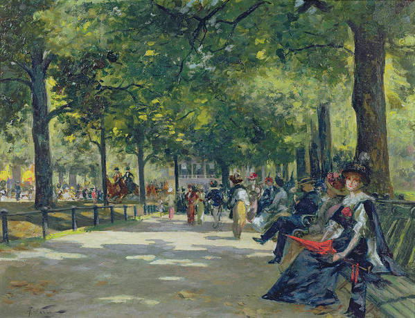 Hyde Art Print featuring the painting Hyde Park - London by Count Girolamo Pieri Nerli
