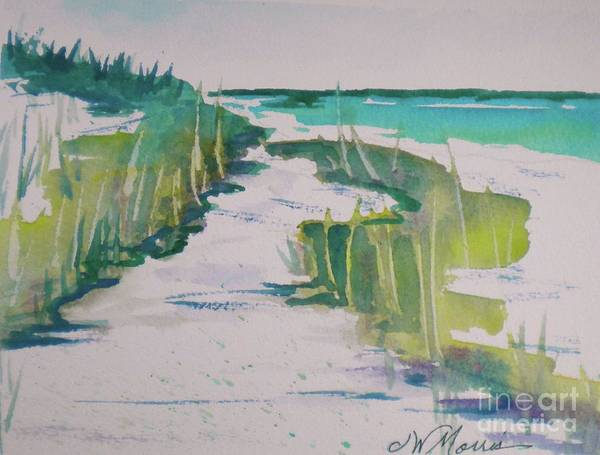 Original Watercolor Art Print featuring the painting I Wish I Was In Siesta Key by Jill Morris