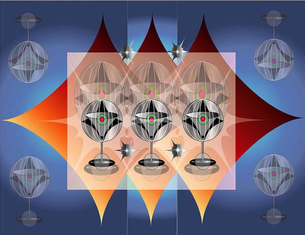 Martini Art Print featuring the digital art Indigo Martini by George Pasini