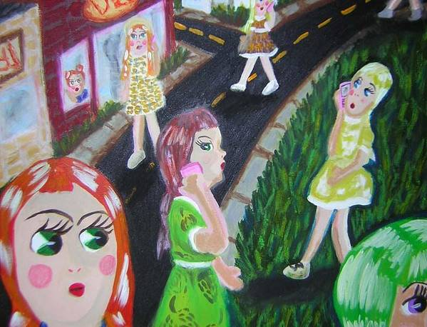 Dolls Art Print featuring the painting Isolate Languages by Michelley QueenofQueens
