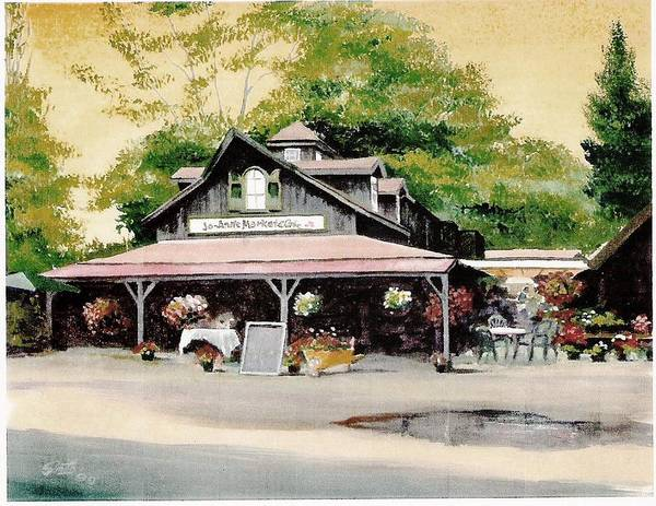 Landscape Art Print featuring the painting Jo-anne's Market by Barry Smith