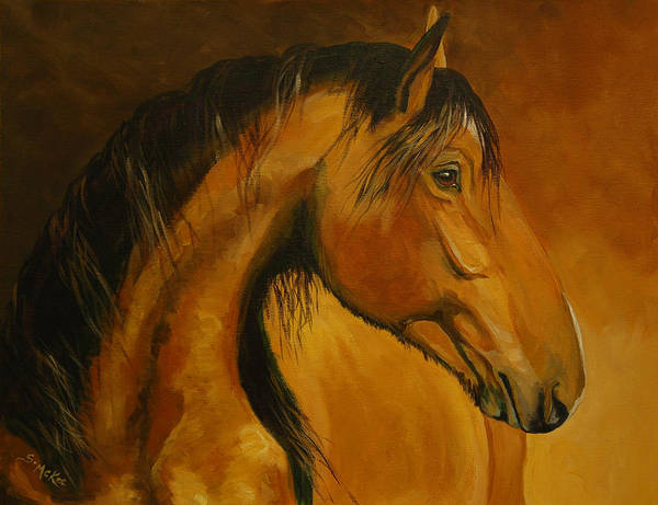 Acrylic Art Print featuring the painting Kiger Sunrise by Suzanne McKee