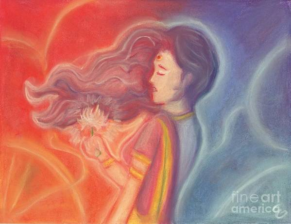 Goddess Art Print featuring the painting Lakshmi by Cassandra Geernaert