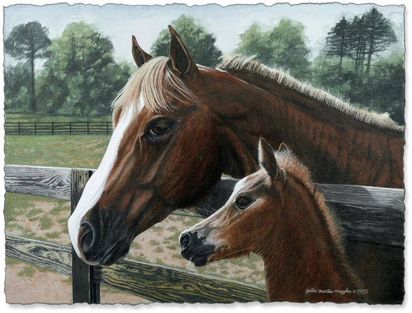 Landscape Art Print featuring the painting Like Father Like Son by Peter Muzyka
