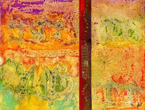 Colorful Art Print featuring the mixed media Living On Both Sides Of The Fence by Angela L Walker