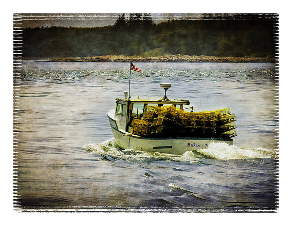 Maine Art Print featuring the photograph Lobster Boat 1f by Richard Xuereb