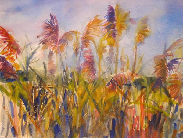 Landscape Art Print featuring the painting Long Island Marsh by Joyce Kanyuk