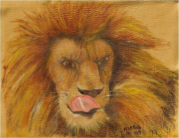Wildlife Art Print featuring the painting m-m-m- Good by Merle Blair