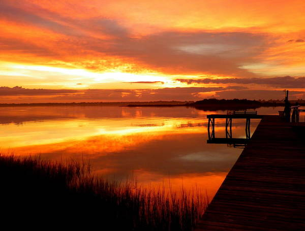 Sunrises Art Print featuring the photograph Marmalade Skies by Karen Wiles