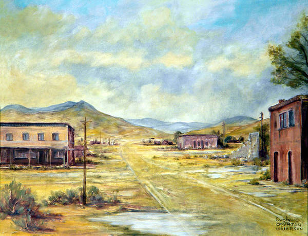 West Art Print featuring the painting Mason Nevada by Evelyne Boynton Grierson