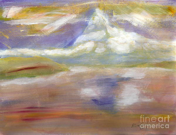 Switzerland Art Print featuring the painting Matterhorn 14 by Ricardo Richard W Linford